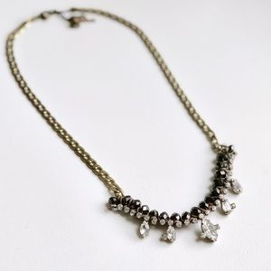 Fossil Bronze and Crystal Necklace
